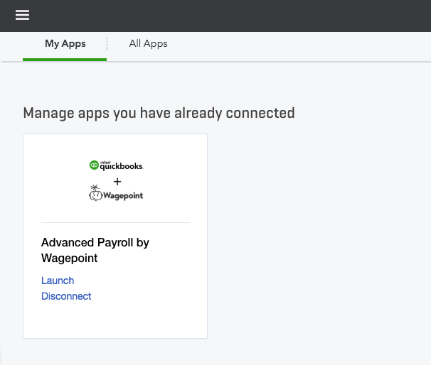 Manage Advanced Payroll app in QuickBooks