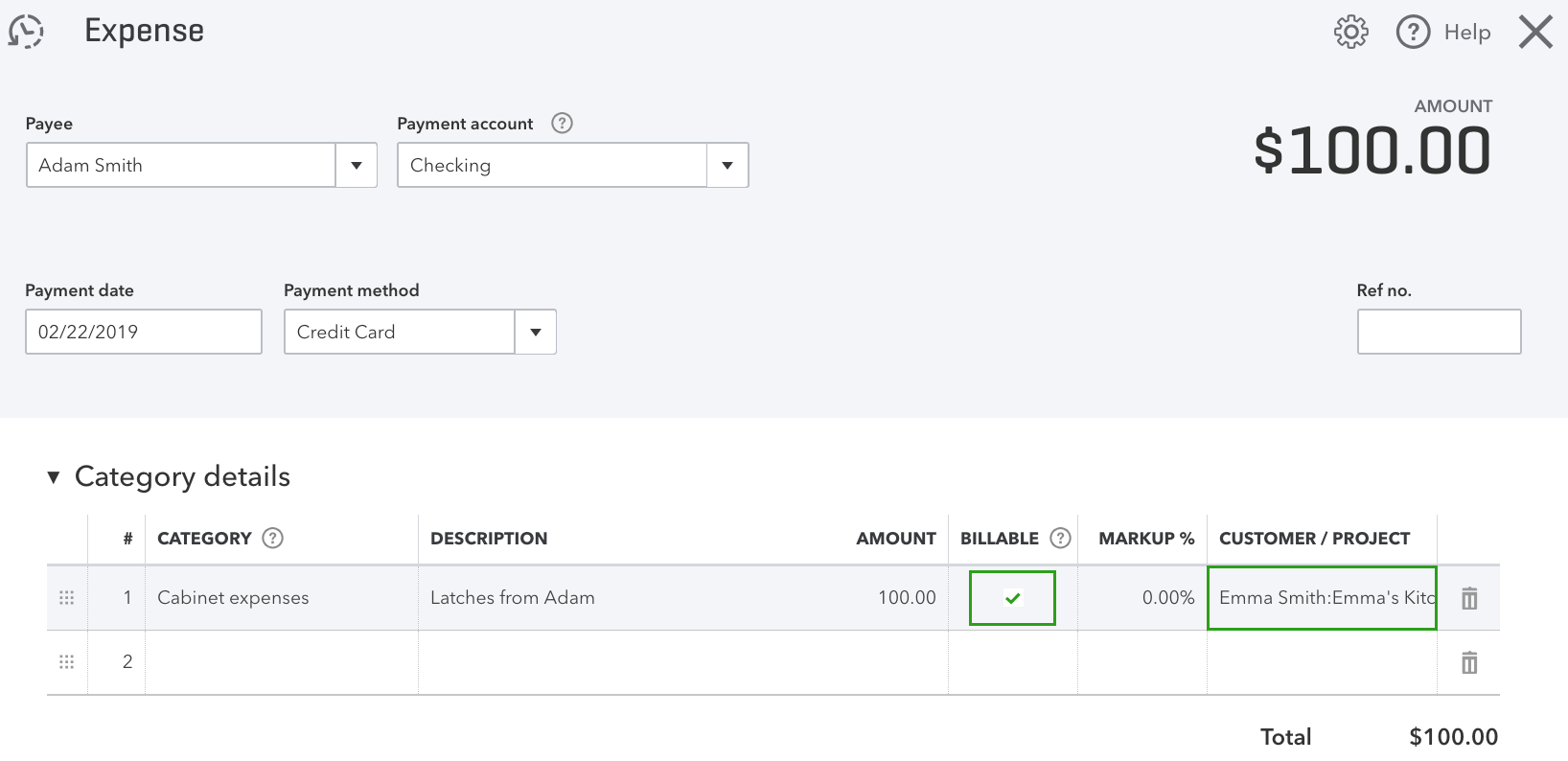 Invoice customers for project time and expenses - Add billable expense