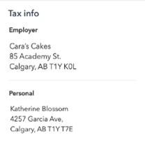 How an employee can view their tax and personal info