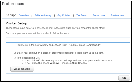 How to align preprinted pay cheques - QuickBooks Community