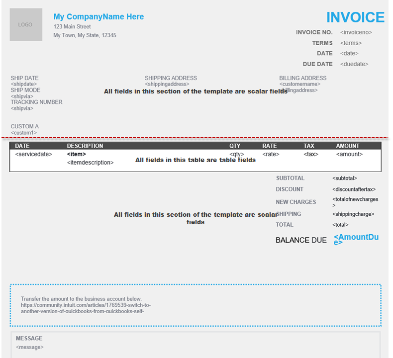 Import custom form styles for invoices or estimate    - QuickBooks