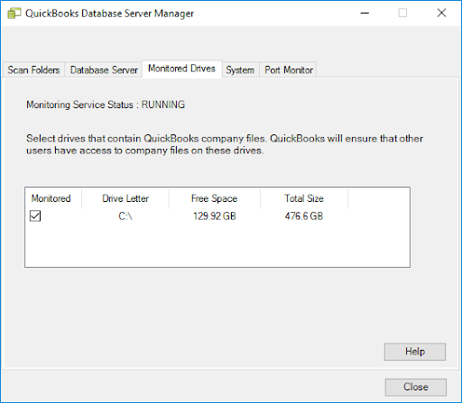 This image shows your available drives. These are the ones that hold your company files.