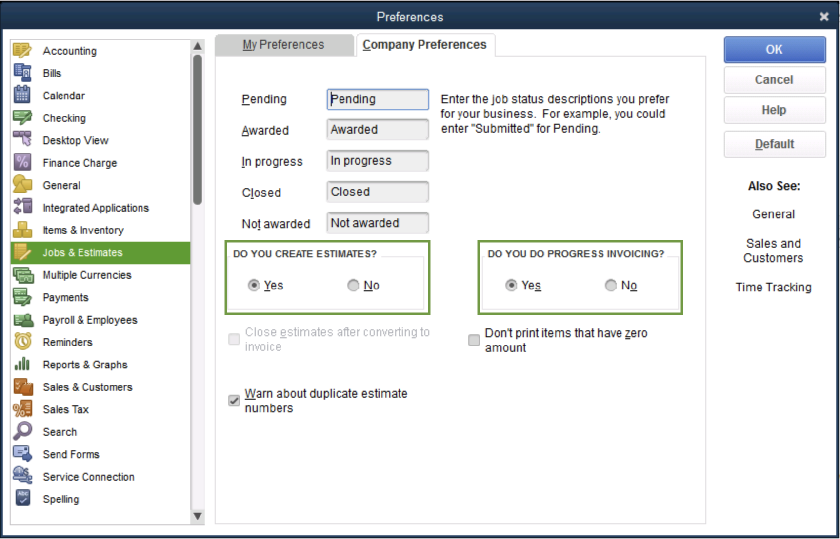 Set up and send progress invoices in QuickBooks De