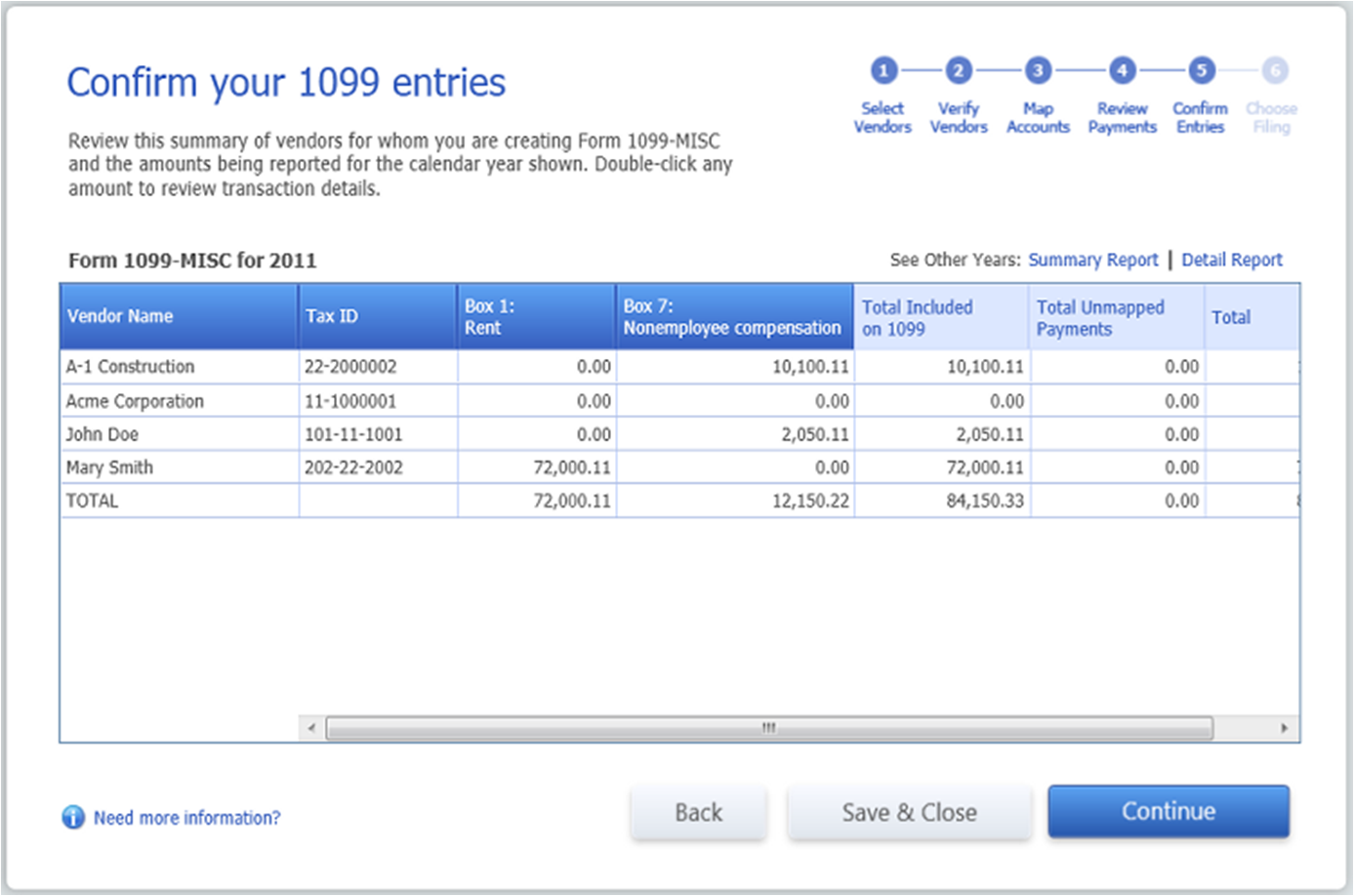 Quickbooks 1099 wizard confirm entries falaconquin