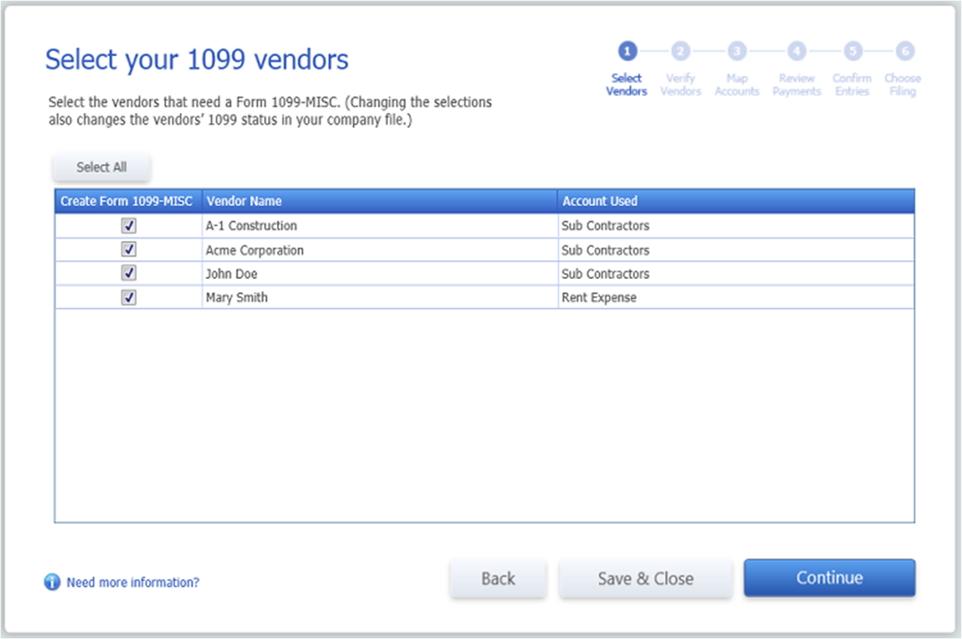 Quickbooks 1099 wizard select 1099 vendors falaconquin