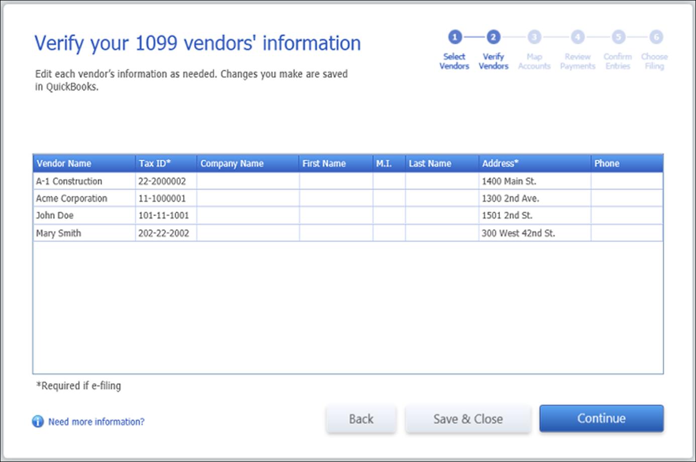 QuickBooks 1099 Wizard