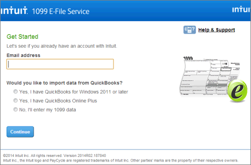 Intuit 1099 E-File service start for free