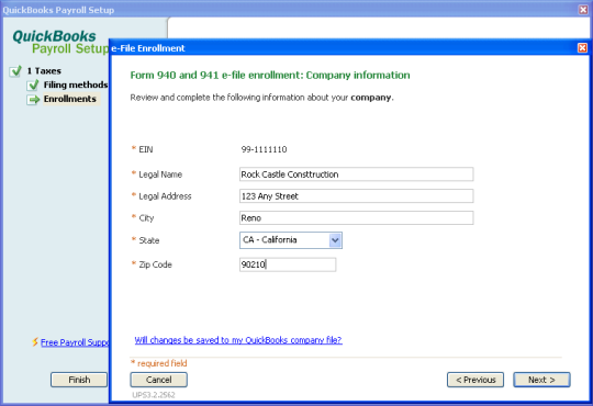 Set up your Federal Forms 940, 941 and 944 for e-file in QuickBo ...