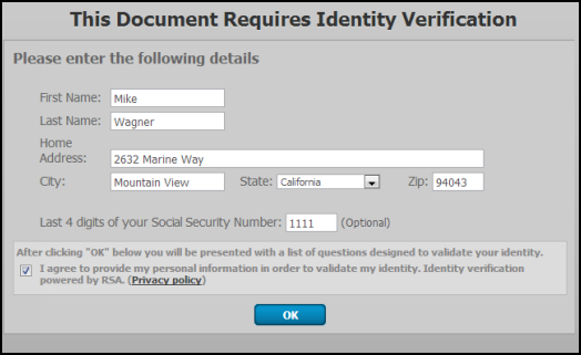 Use e-signature to sign authorization forms for Intuit Full Serv ...