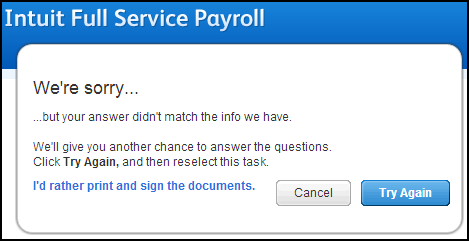 Use esignature to sign authorization forms for Intuit Full Serv – Payroll Authorization Form