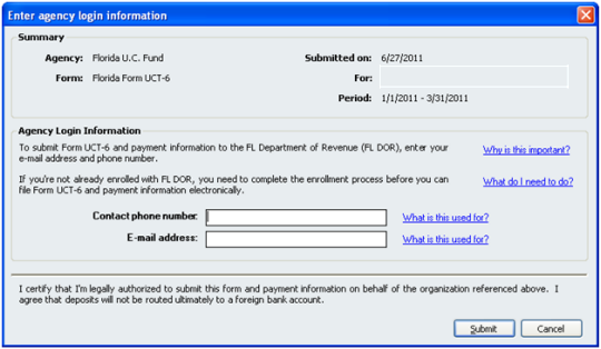 Enter agency contact information in QuickBooks