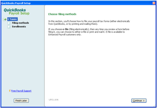 Select filing methods to set up e-filing for state tax forms in QuickBooks Desktop