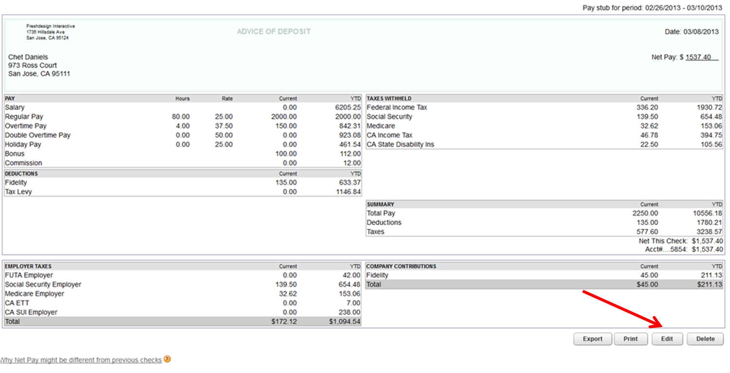 Edit paychecks in Online Payroll - QuickBooks Learn & Support