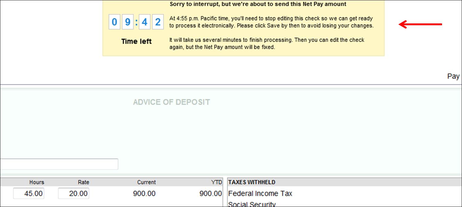 edit unprocessed direct deposit pay cheque in QuickBooks