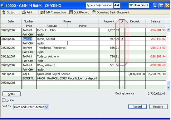 deluxe transaction register