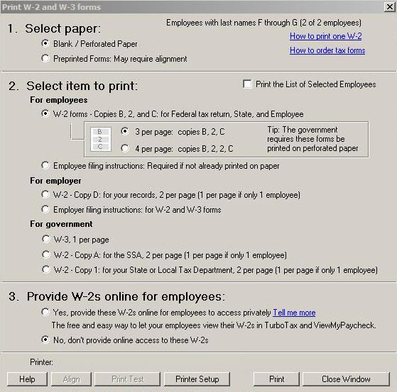 Send employees' W-2 information to Intuit Turbo Tax - QuickBooks ...