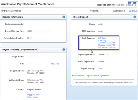 Change your Direct Deposit bank account (desktop payroll)