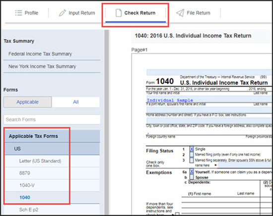 Printing A Return Or Saving It As A Pdf File In Proconnect Tax O