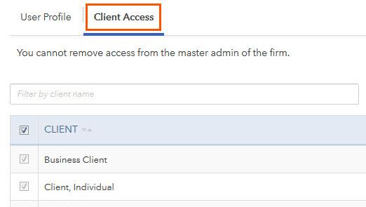 client access screen