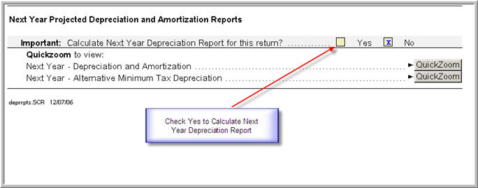 How To Calculate Next Years Depreciation And View The Report
