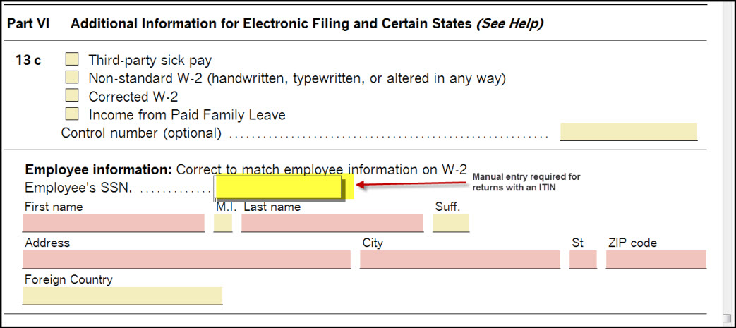 Electronically Filing A Return With An Individual Taxpayer Ident