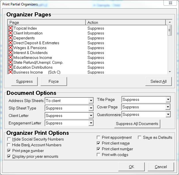 printing a partial organizer accountants community