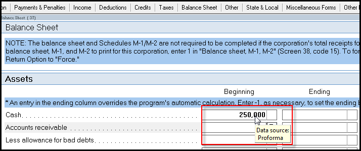 note if amounts are available in the beginning column and the amounts appear in a black font default proforma font the amounts have proformad