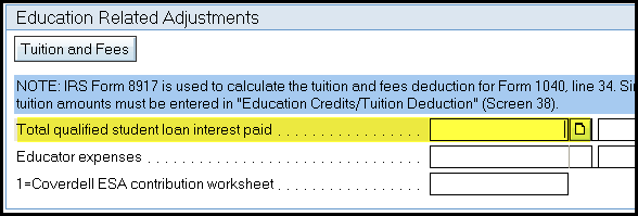 enter the total amount of qualified student loan interest paid the program calculates the deductible amount to be reported on form 1040 based on the - Student Loan Interest Deduction Worksheet