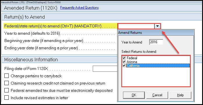 Generating Form 1120X Corporate Amended Return - Accountants Community