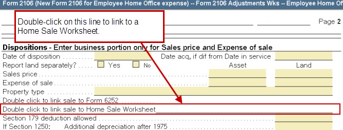 Linking An Employee Home Office Or Home Office Asset Entry Works