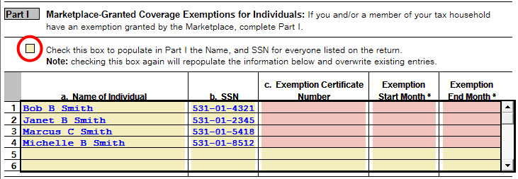 Completing Form 8965 Health Coverage Exemptions Intuit