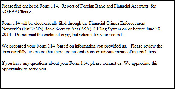 1040 Adding Form 114 Report Of Foreign Bank And Financial Accoun