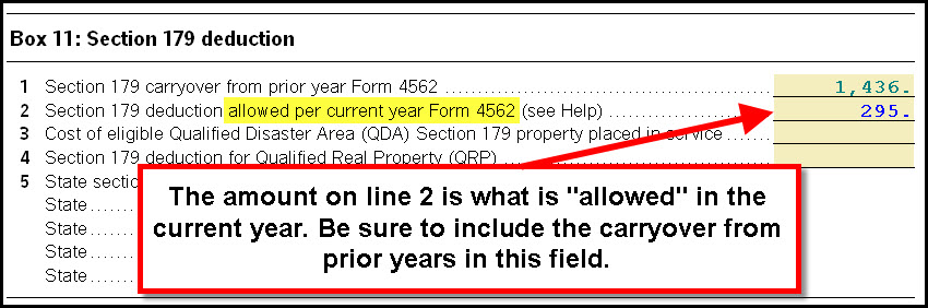 Form 4562 Line 12 The Total Allowable Section 179 Does Not Mat