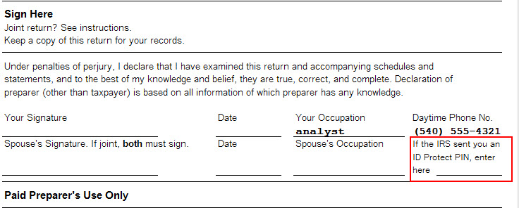 Form 1040 The Identity Protection Pin Is Not Printing Accountants