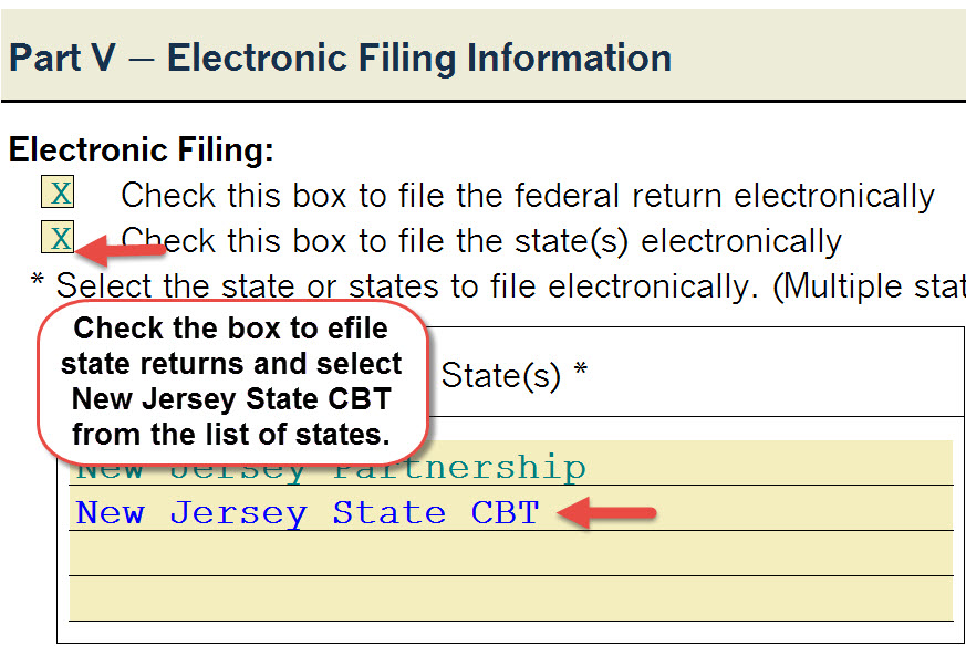 New For 2015 New Jersey Cbt 1065 Module Required To E File Nj