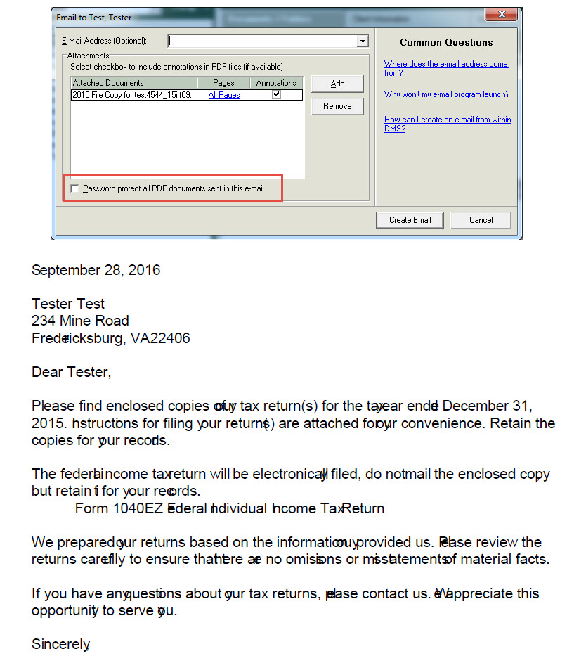Client Letter S Text Overlaps When Email Password