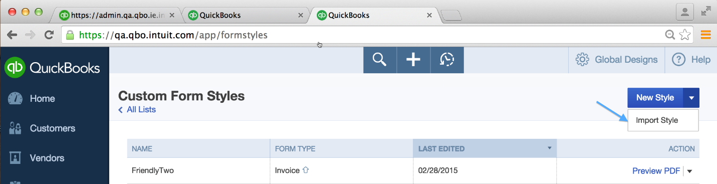 how to import invoice template styles from word