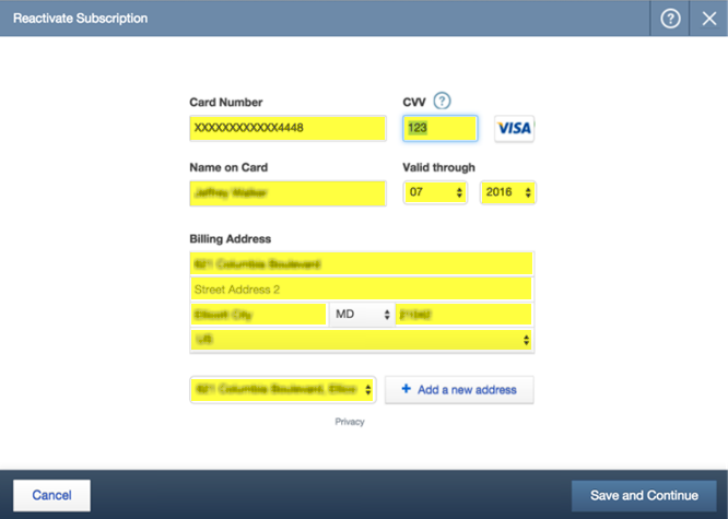 reactivate QuickBooks Payroll subscription