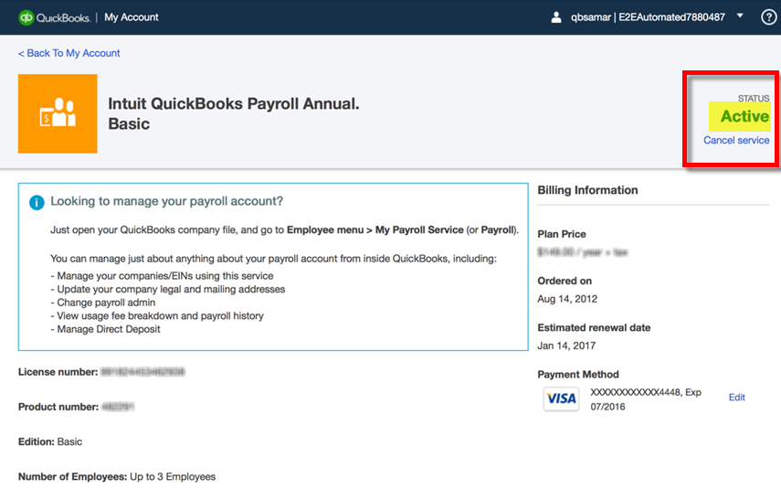 Renew or reactivate your Desktop payroll service