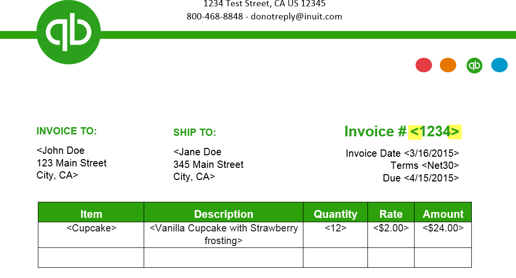 how to import invoice template styles from word - quickbooks learn, Invoice examples