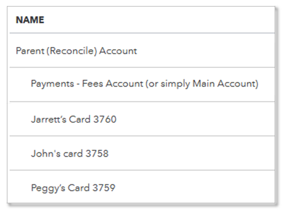 About bank or credit card subaccount setup - QuickBooks