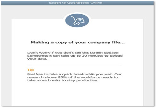 Problem copying your company file to QuickBooks Online error