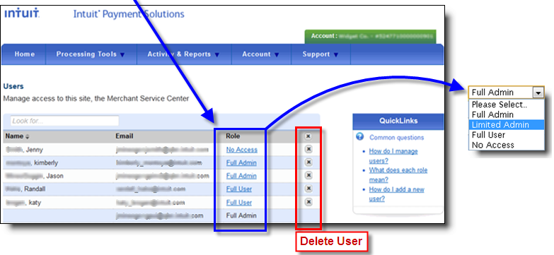 View user roles in Intuit Payment Solutions in QuickBooks Online