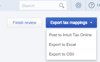 Export tax mappings in QuickBooks Online