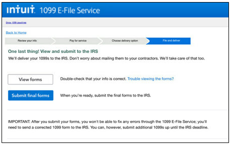 1099 E File Service Quickbooks Online Setup Troubleshooting