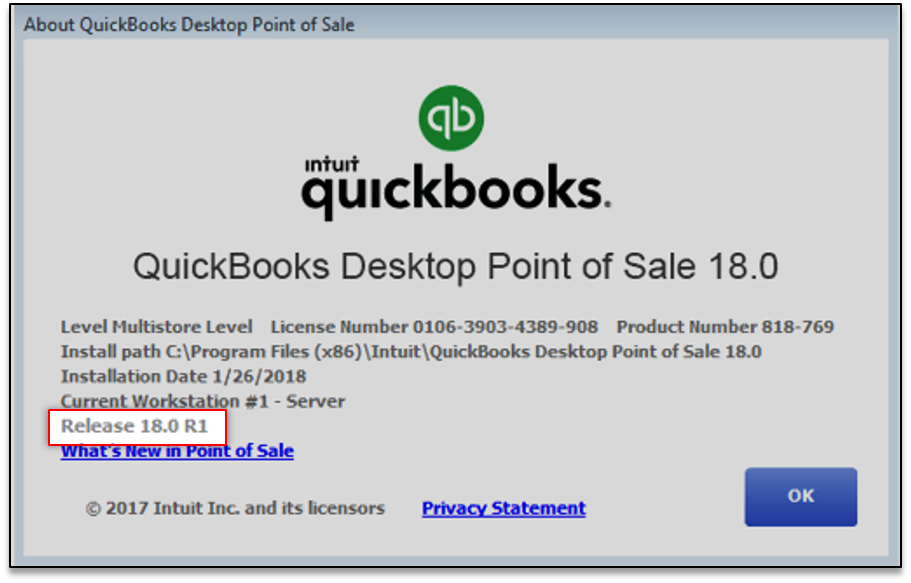 Update Point of Sale to the latest release - QuickBooks