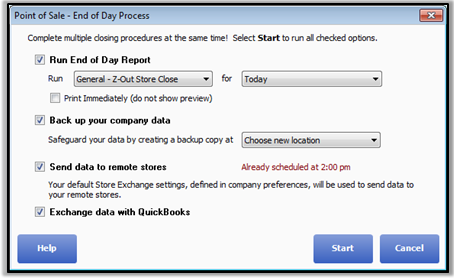 Run End of Day Procedure - QuickBooks Learn & Support