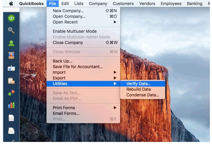 Verifying data integrity in QuickBooks for Mac - QuickBooks Learn ...