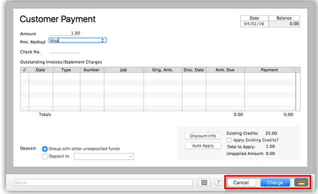 Process a credit card payment in quickbooks for mac quickbooks user added image colourmoves