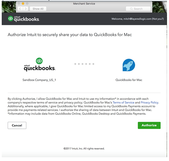 Quickbooks Self Employed Login >> Connect your Payments Account to QuickBooks for Mac - QuickBooks Learn & Support